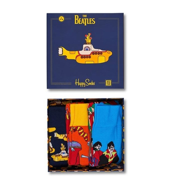 Giftbox EP (3-pak) skarpetki The Beatles x Happy Socks XBEA08-6000